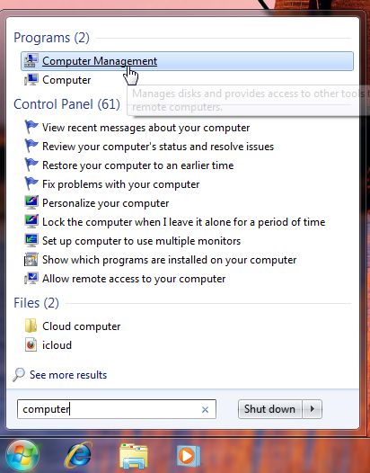 See available drives in Microsoft Windows 7 and earlier