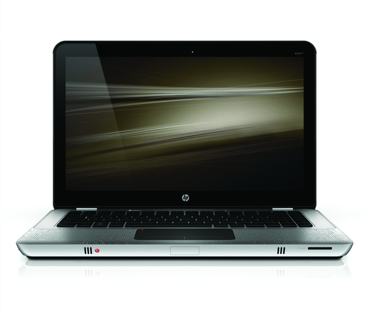 HP Envy 14, front open on white
