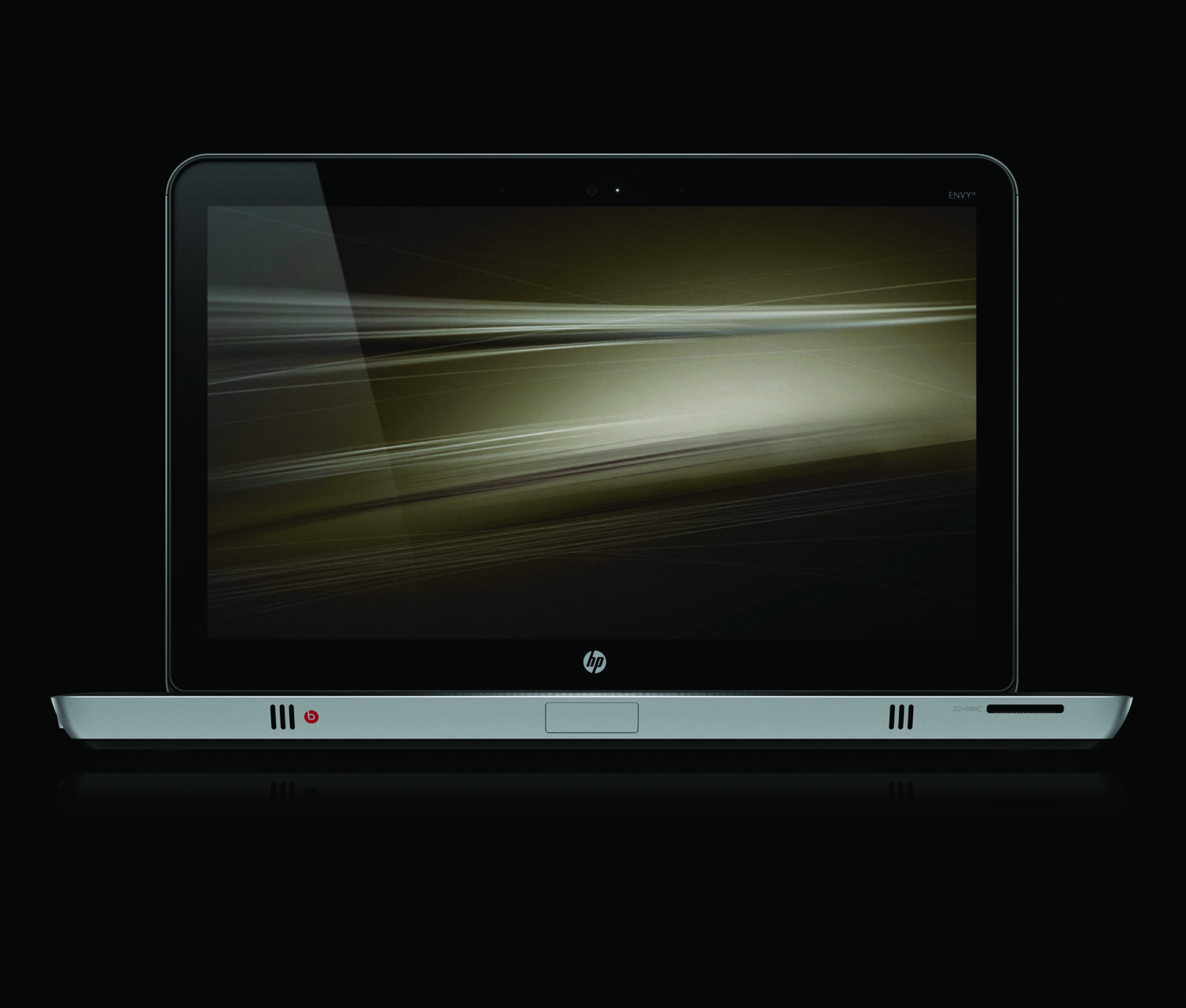 HP Envy 14, front open profile on black
