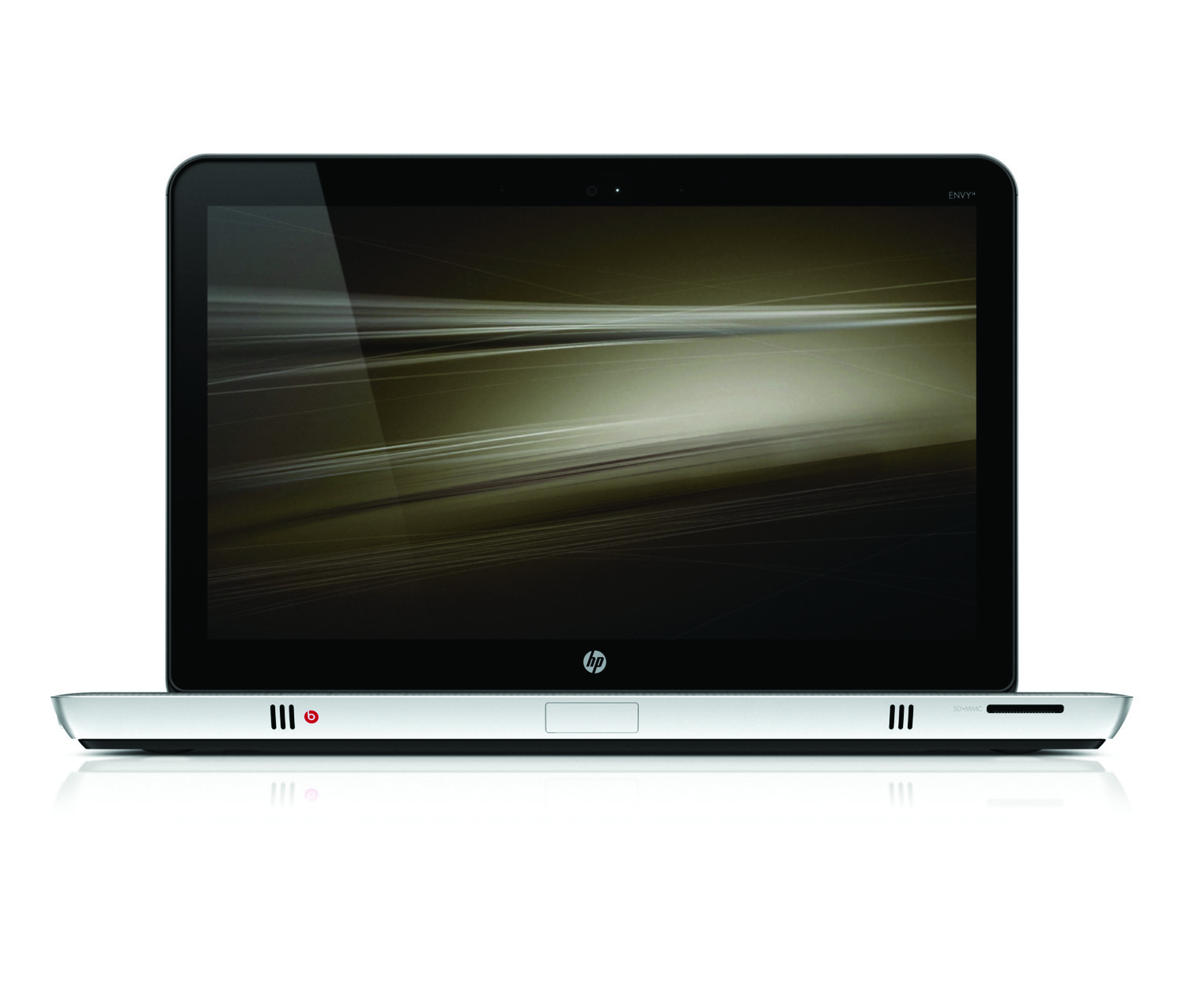 HP Envy 14, front open profile on white