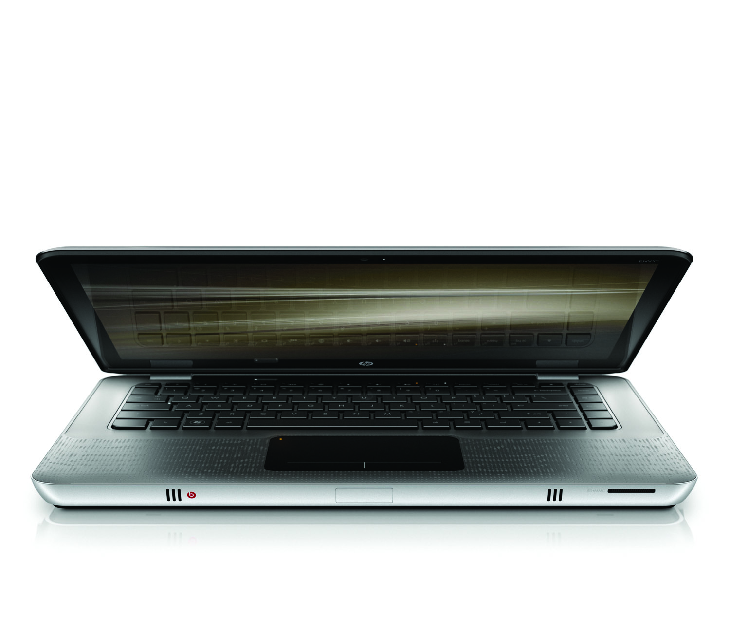 HP Envy 14, front slightly open on white