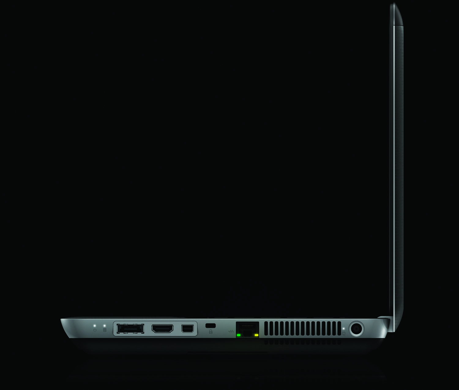HP Envy 14, left profile on black