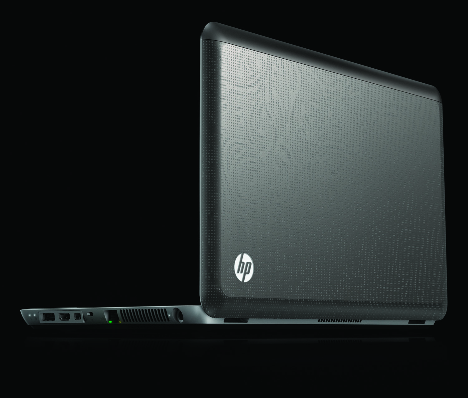 HP Envy 14, rear left back on black
