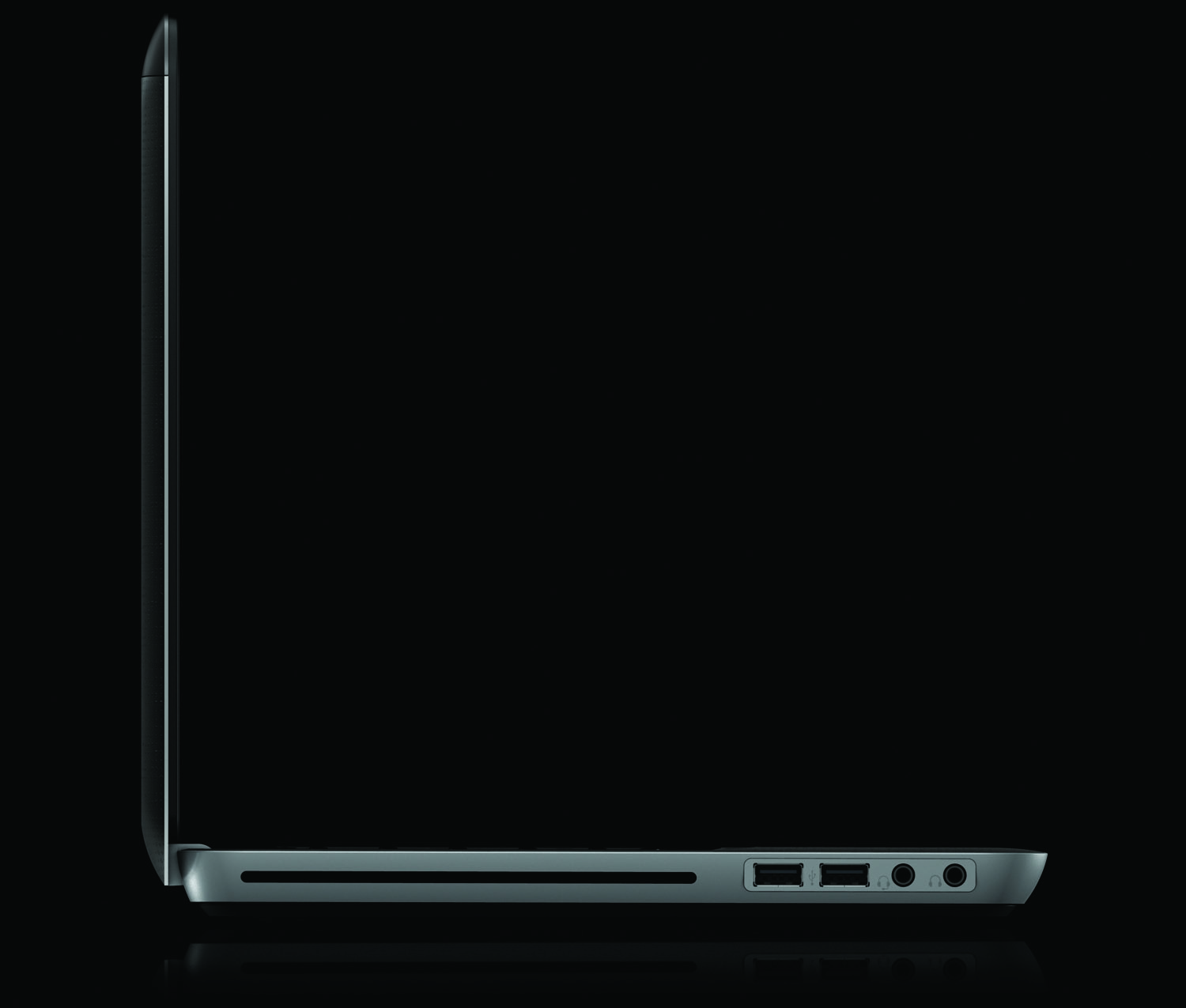 HP Envy 14, right profile on black