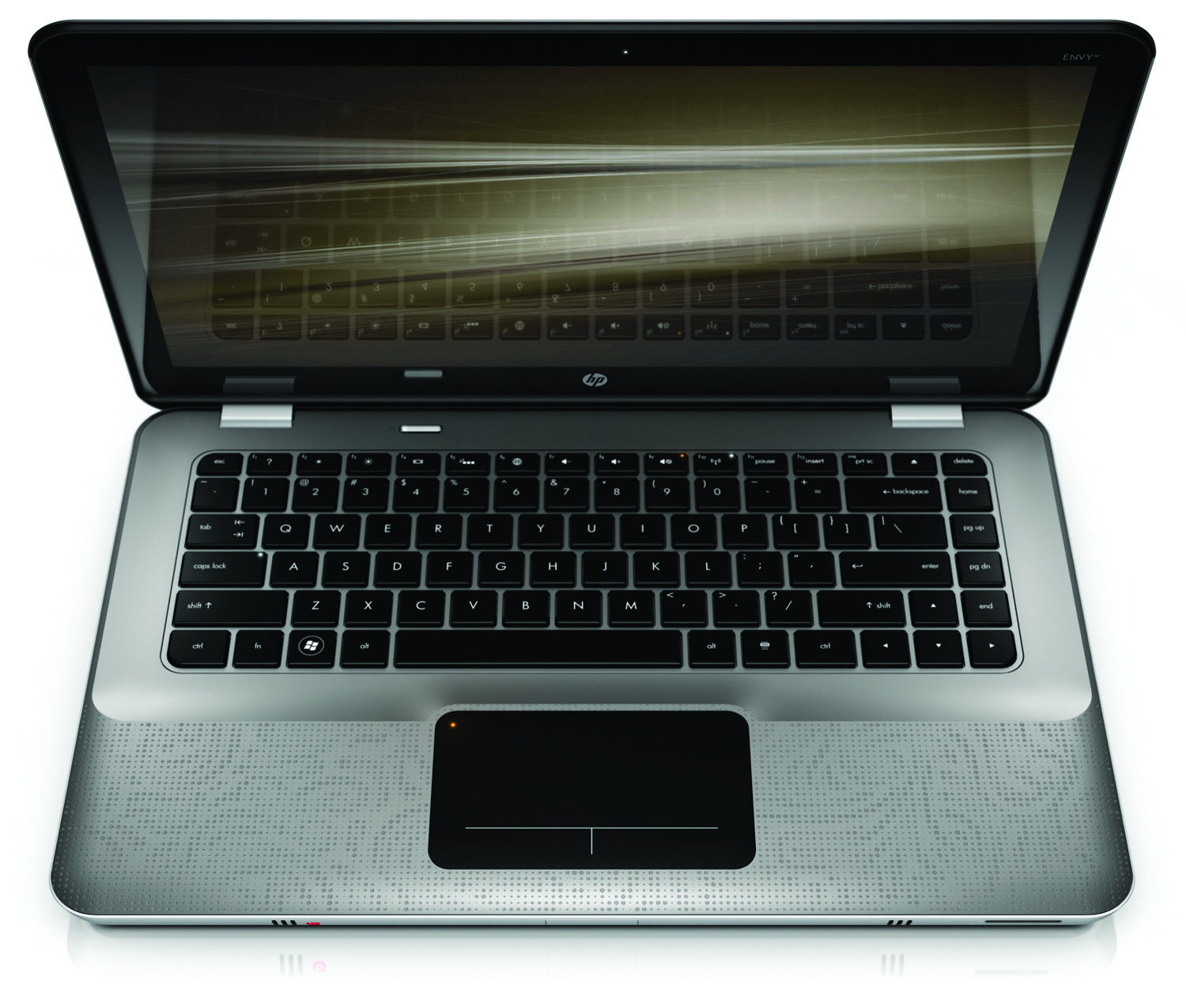 HP Envy 14, top open on white
