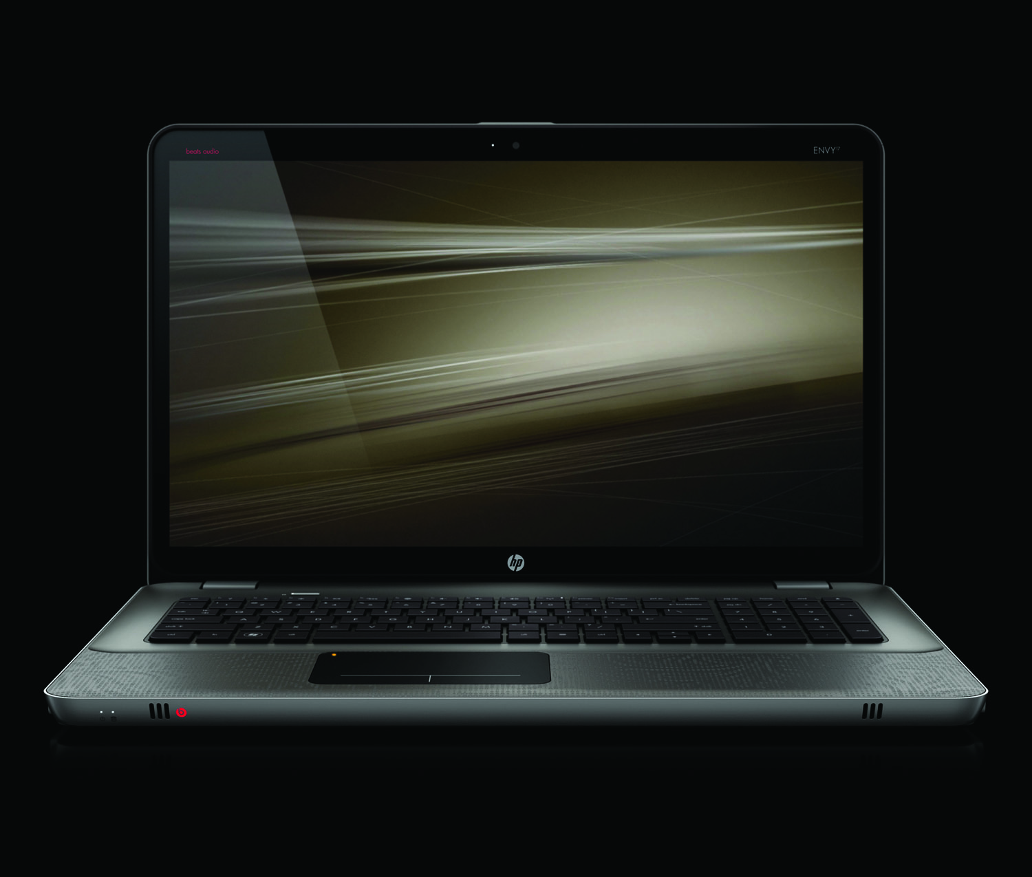 HP Envy 17, front open on black