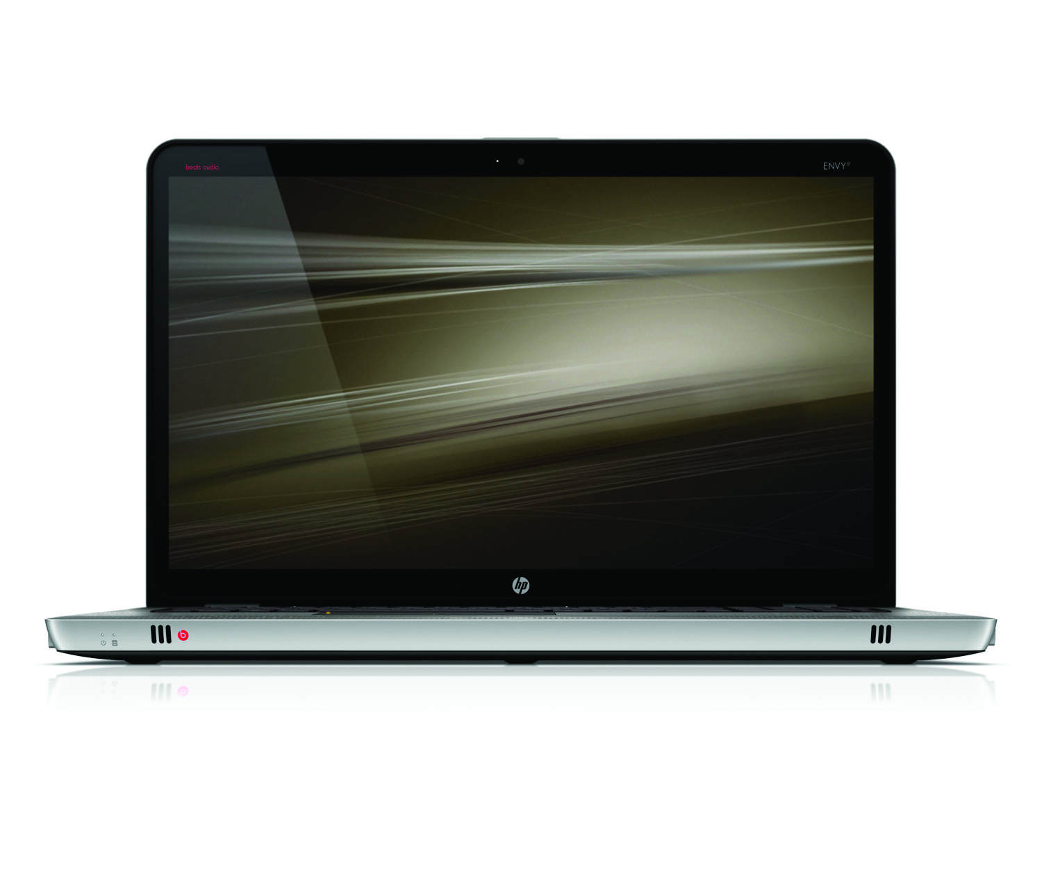 HP Envy 17, front open profile on white