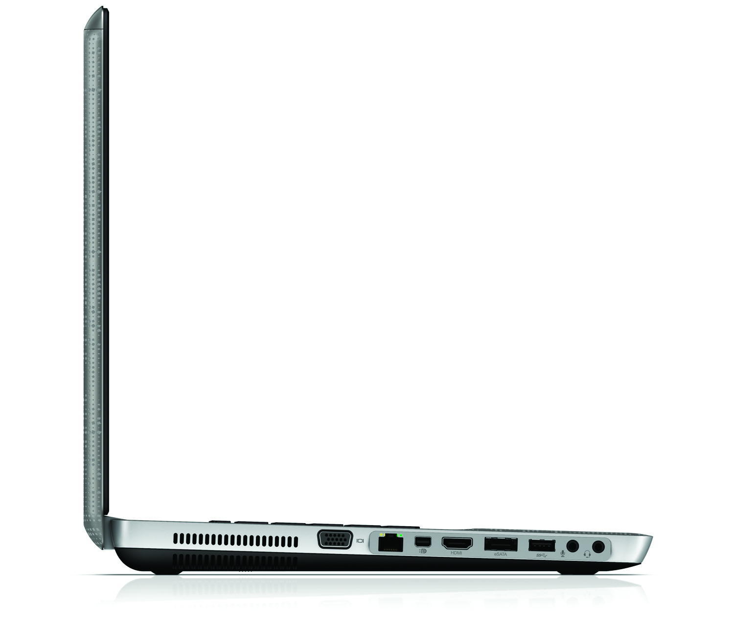 HP Envy 17, right open profile on white