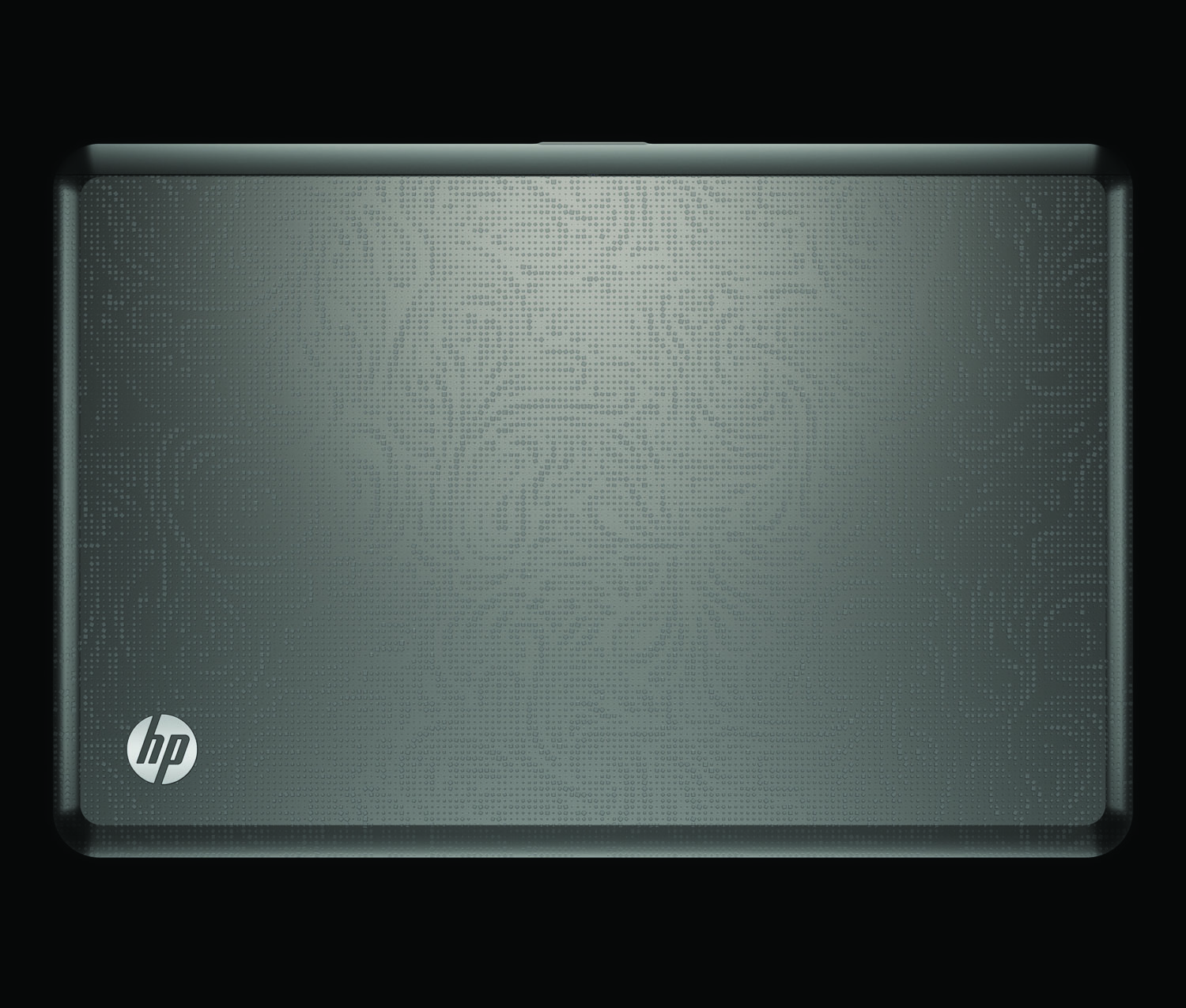HP Envy 17, top closed on black