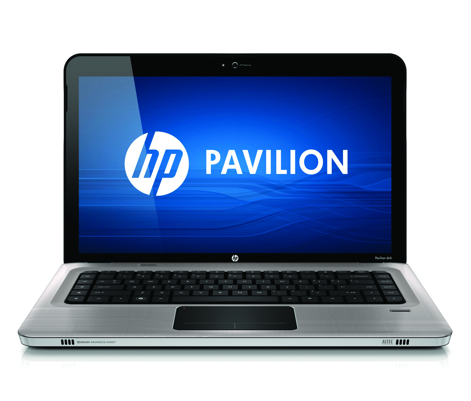 HP Pavilion dv6 Entertainment PC, argento, front open