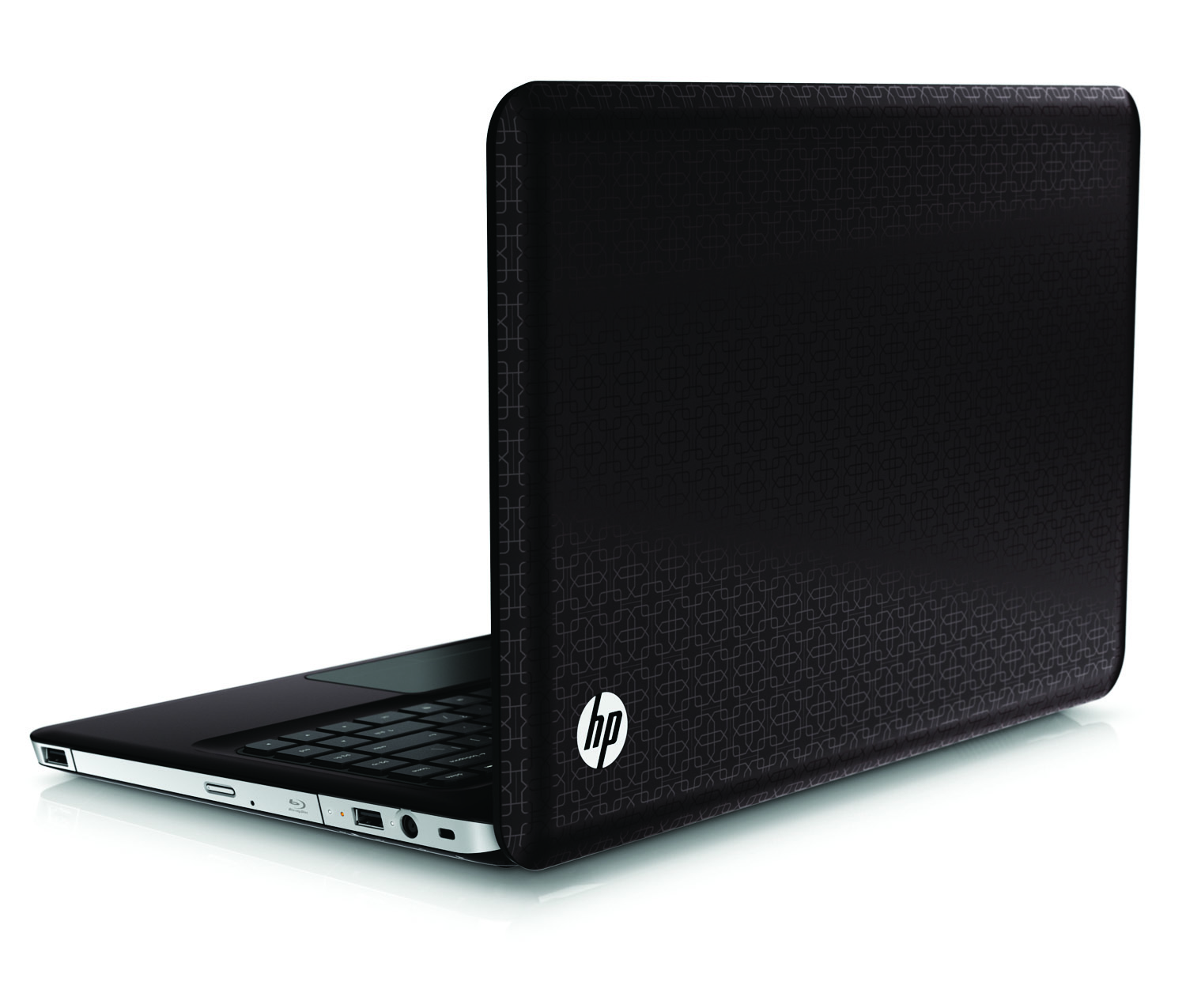 HP Pavilion dv6 Entertainment PC, black cherry, rear left open