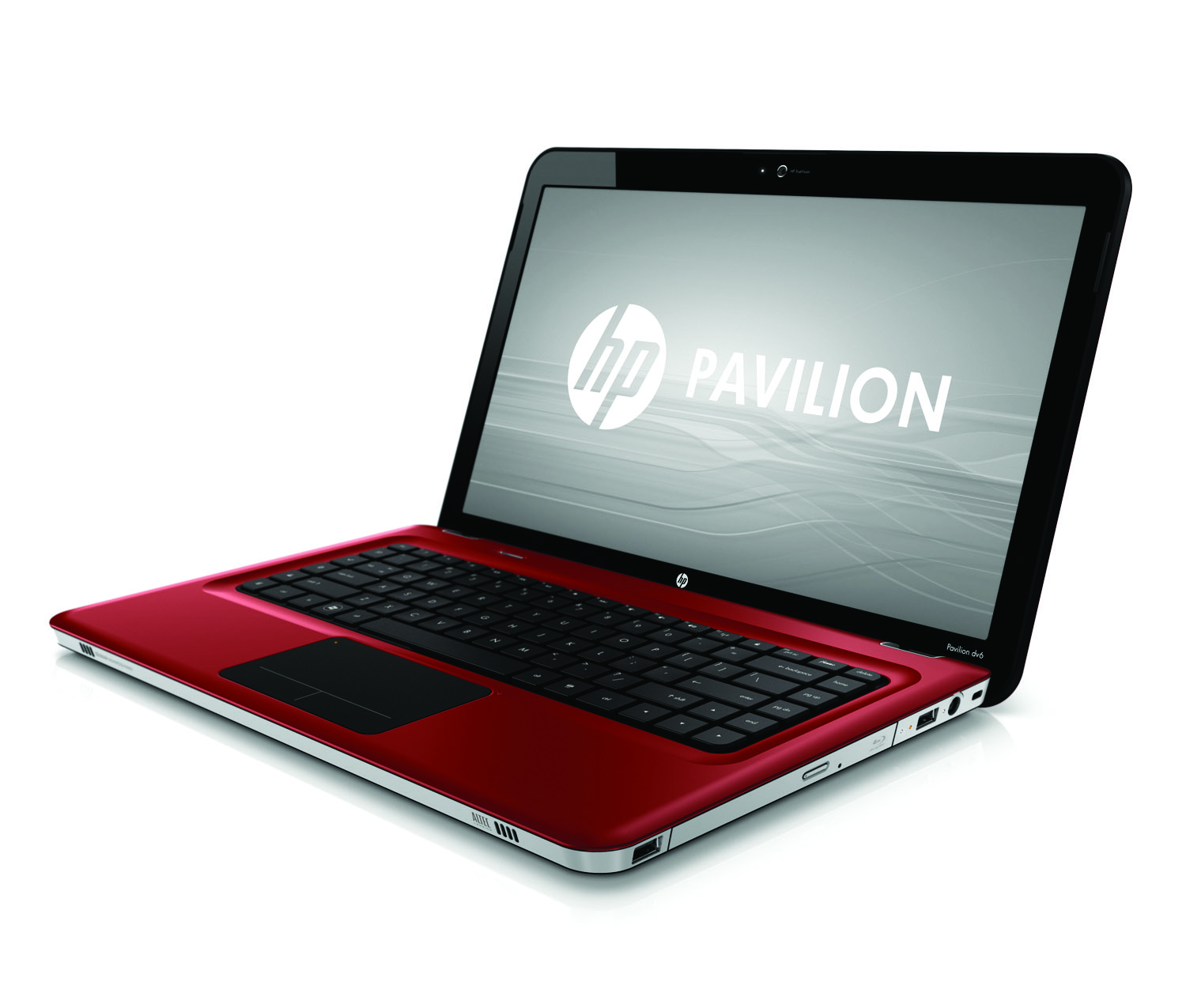 HP Pavilion dv6 Entertainment PC, sonoma red, front left open