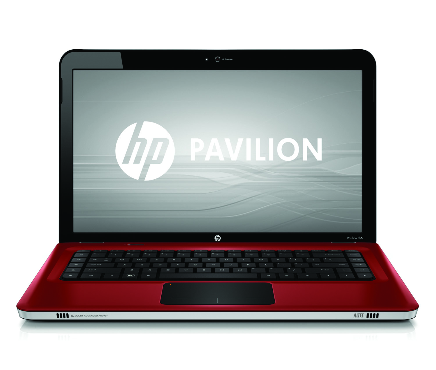 HP Pavilion dv6 Entertainment PC, sonoma red, front open