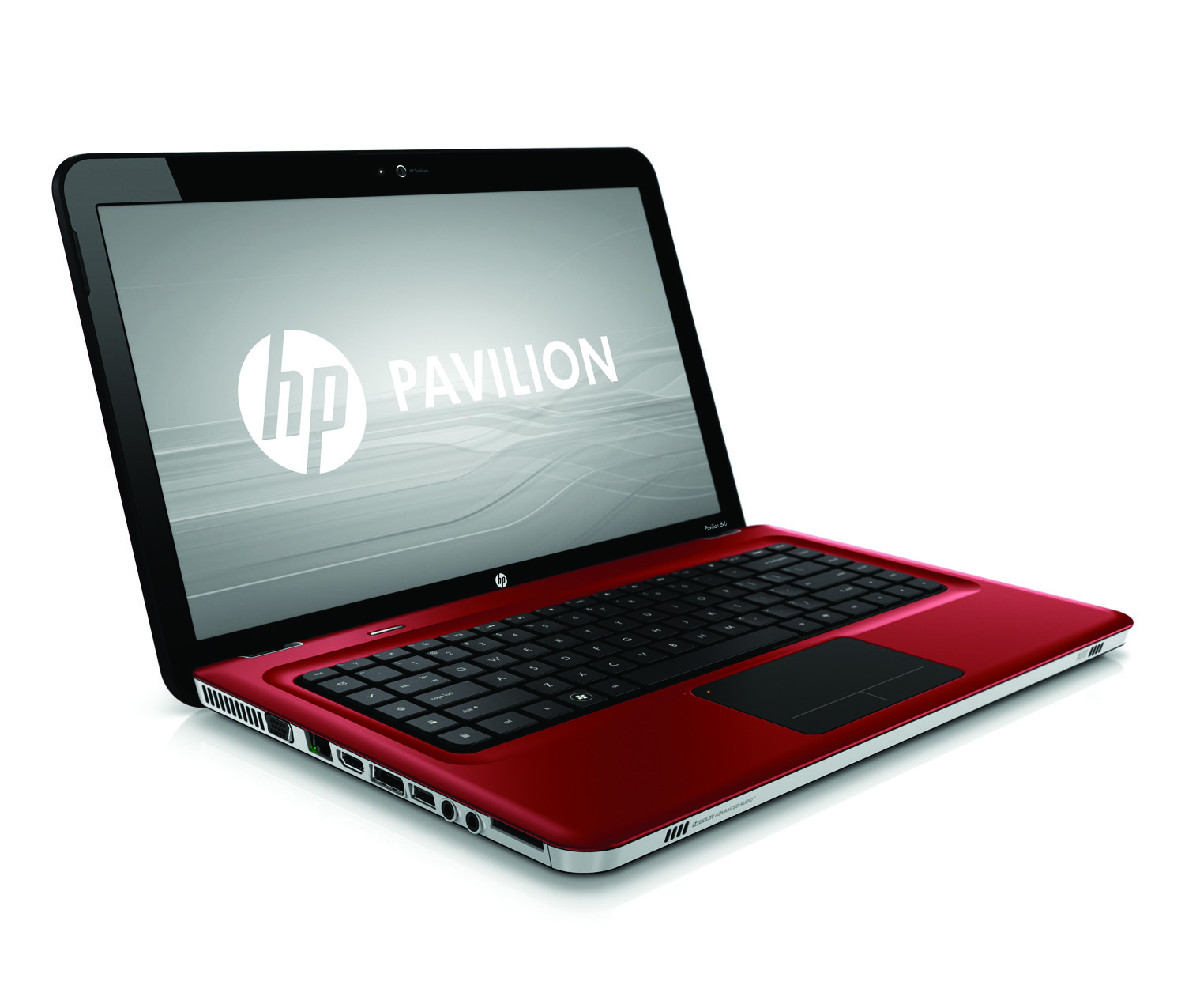 HP Pavilion dv6 Entertainment PC, sonoma red, front right open