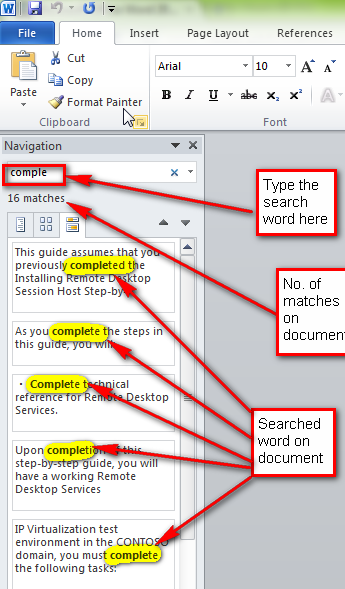 how to make the heading part smaller on microsoft word
