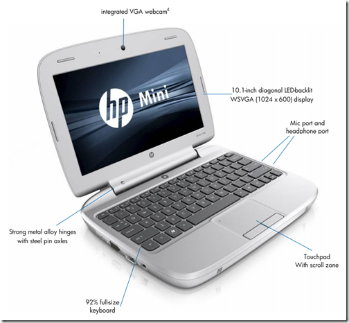 hpmini2 thumb HP Mini 100e Education Edition Netbook Introduced | Notebooks.com#