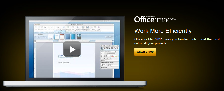 Microsoft Office for Mac 2011 Previewed