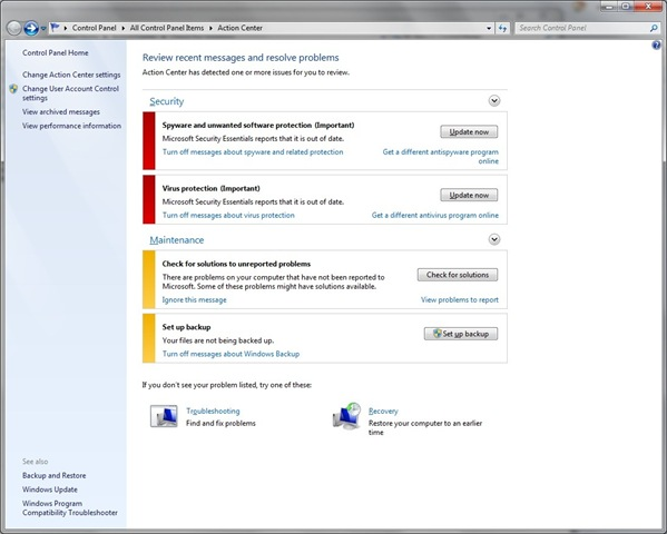 How to Use Action Center in Windows 7