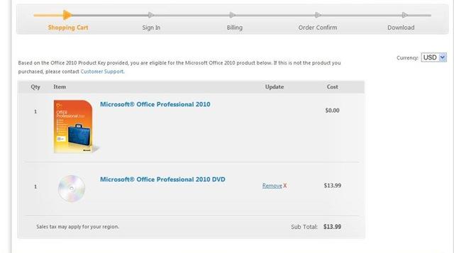 microsoft office professional plus 2010 backup dvd