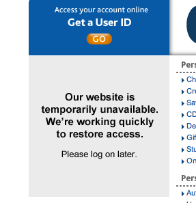 Chase Web site down