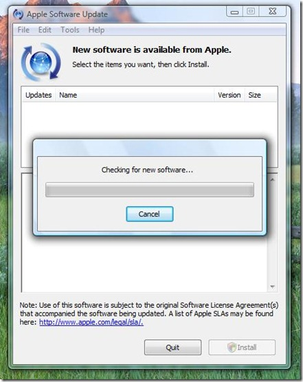 Apple Software Update 1