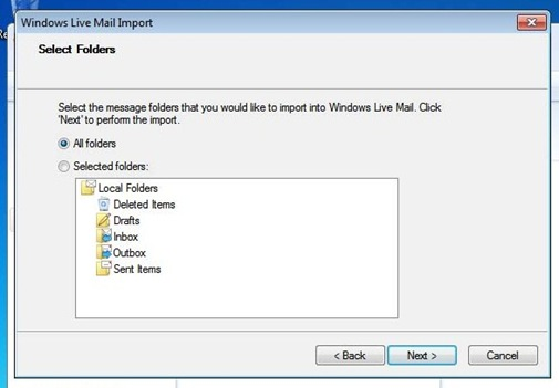 Import Messages WL Mail 5