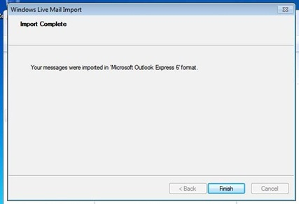 Import Messages WL Mail 7