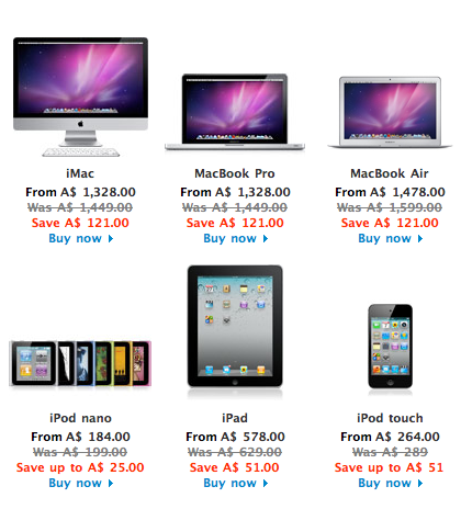 Apple MacBook iPad and iPod Touch on Sale for Black Friday