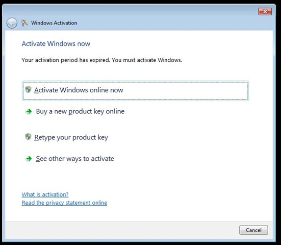 activate win7 by phone