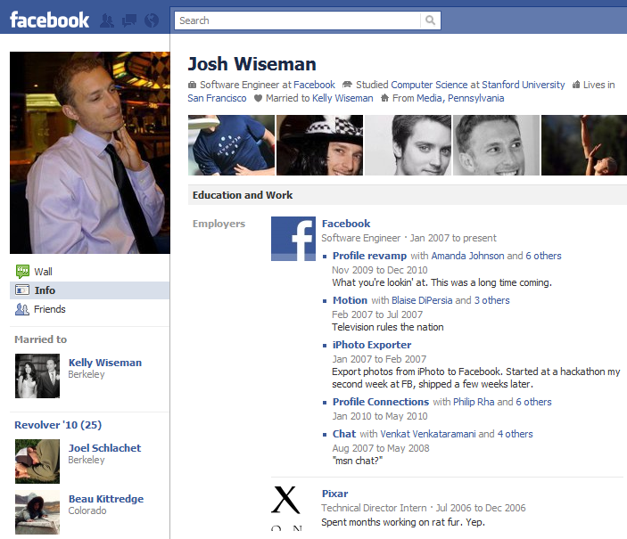 Facebook Profile Example
