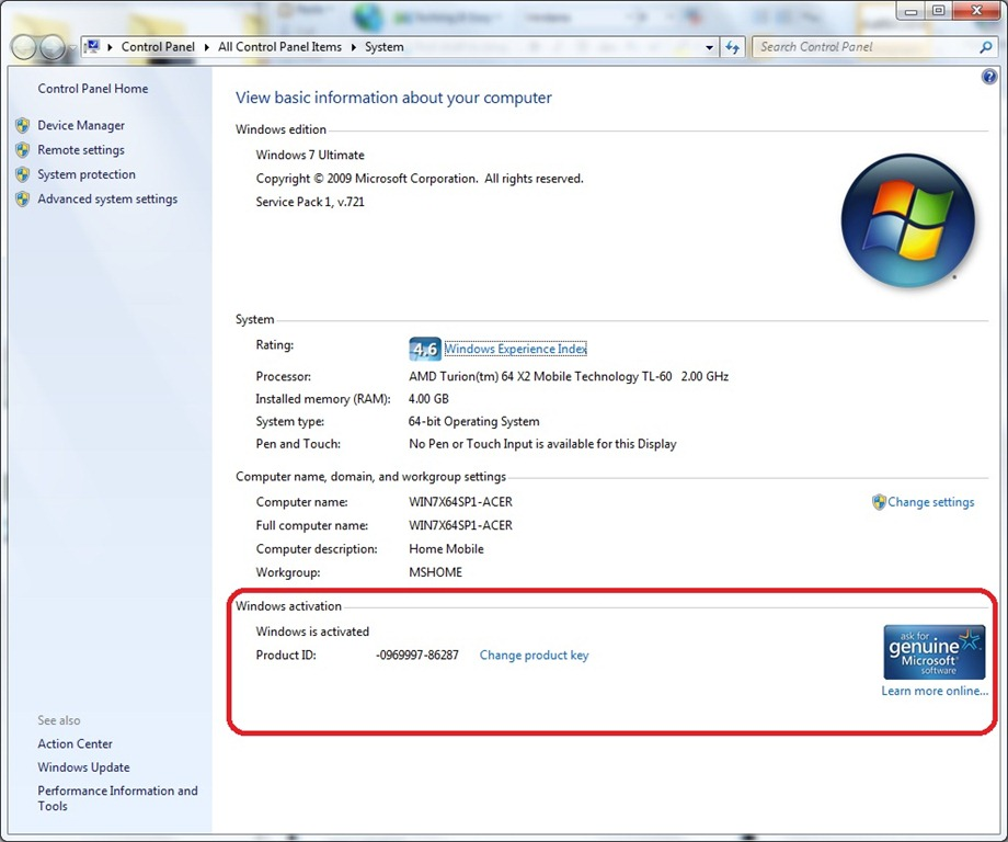 My windows 7 is not genuine but is activated. How to ...