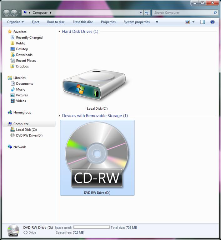 windows 7 software cd