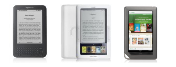 kindle nook and nook color
