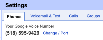 Google Voice Number porting
