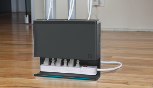 Plug hub power strip organizer keeps your surge protector - Under desk cord organizer ...
