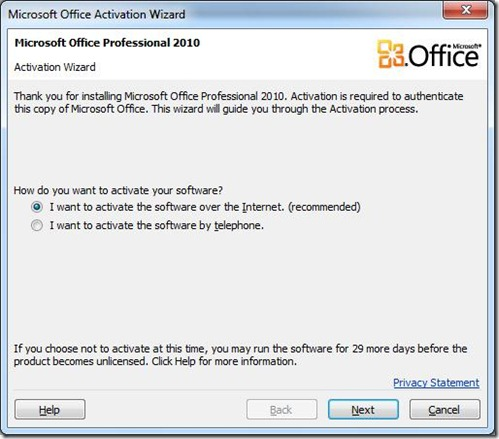 Start Office apps 10