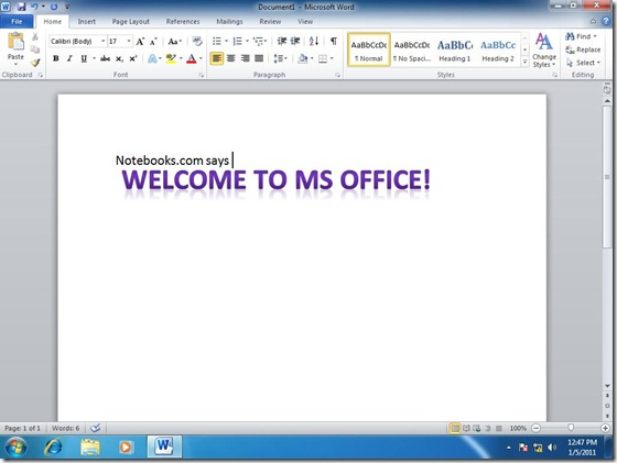 Start Office apps 11