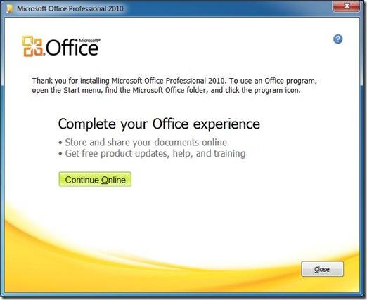 Start Office apps 8
