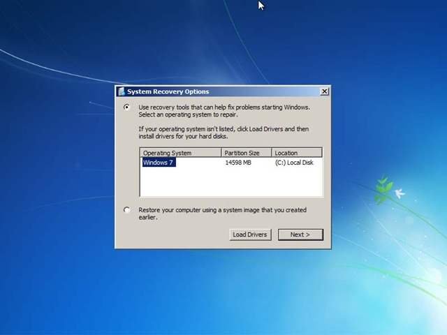 how to choose boot operating system windows 7 and xp