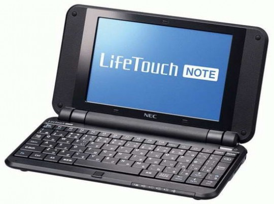 NEC LifeTouch Note Netbook 2 540x401