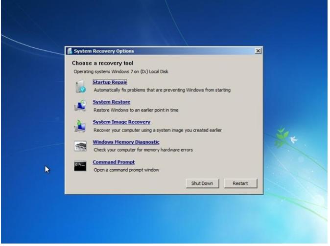 restore disc windows 7