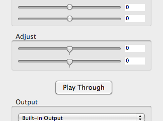 Audio Pass Through Mac OS X
