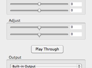 Audio Pass Through Mac OS X