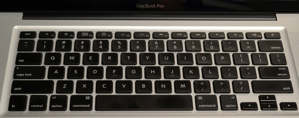 MacBook Pro - keyboard