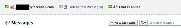 Facebook email Setup