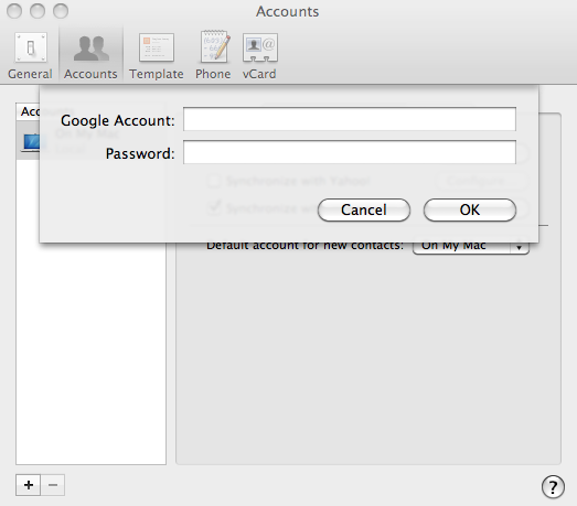 How to Sync Google to Mac Address Book