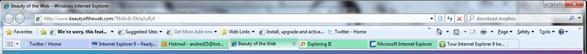 Internet Explorer 8 bar