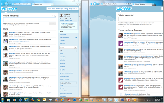 Internet Explorer 9 Review Pull apart tabs