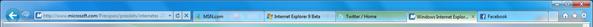 Internet Explorer 9 Bar