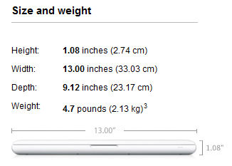 New MacBook Size and weight